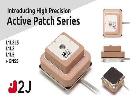 Active Ceramic Patch Antenna with GNSS bands