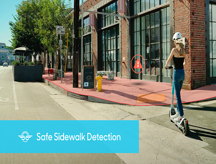 Sensor fusion solution to prevent footpath riding